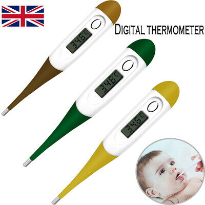 Thermometer for Adults Baby Digital LCD Kids Body Mouth Ear Underarm Temperature