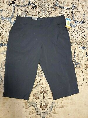 COLUMBIA Womens Anytime Black Casual Capri Pants Size XLarge