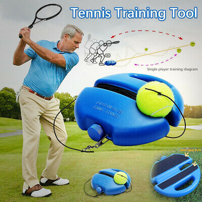 Singles Tennis Trainer Training Practice Rebound Balls Back Base Tool 1 Ball