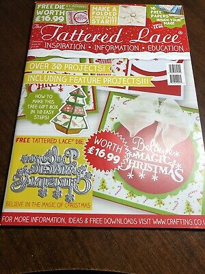 Tattered Lace CHRISTMAS SPECIAL Magazine 2016 with FREE Christmas Sentiments Die