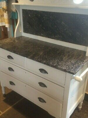 Marble Top Wash Stand with 4 drawers
