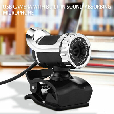 USB 2.0 50 Megapixel HD Camera Web Cam with MIC Clip-on 360 Degree for PC R2H2