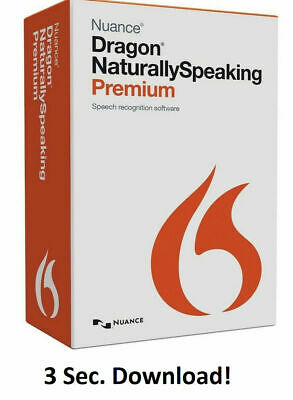 Nuance Dragon Naturally Speaking Premium v13 - Full Version! Download NOW!