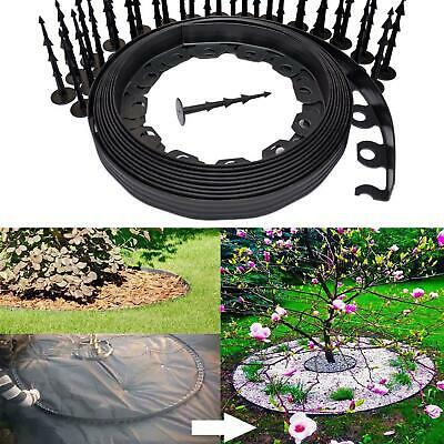 Flexible Garden Lawn Grass Edge Plastic Garden Border Wall Strong Pegs