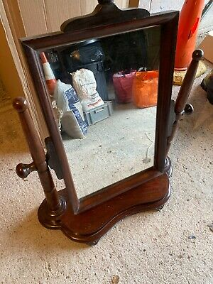 Mahogony Antique Vintage Swing Dressing Table Mirror