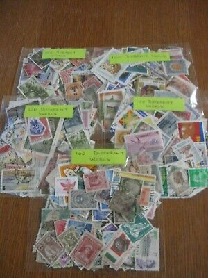 100 WORLD STAMPS, ALL DIFFERENT, OFF PAPER, ONLY £0.99p .