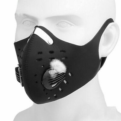Dustproof Face Cover - one black Breathable ANTY Germs Pollution Allergy Smell