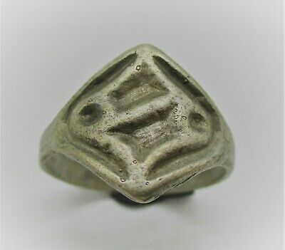 Detector Finds Viking Era Norse Silver Ring With Runic Symbol On Bezel