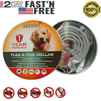 Dewel Cheaper than Seresto!Flea & Tick Collar for Large Dog 1Year Protection NEW