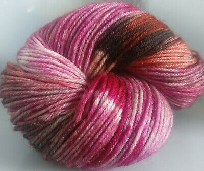 400g OF HAND-DYED 100% PURE BRITISH KNITTING WOOL, 4 SKEINS * CW MERLE