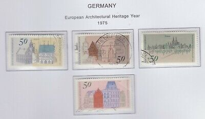 {Old 98} 1975  Germany Architecture Stamps From A Collection  Sg 1756-1759