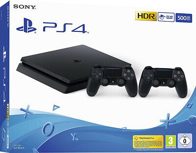 Sony Playstation 4 Ps4 Console 500Gb F Chassis Slim Hdr + 2 Dualshock 4 V2