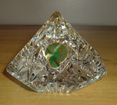 Waterford Lismore Crystal Diamond-Shaped Paperweight NWT