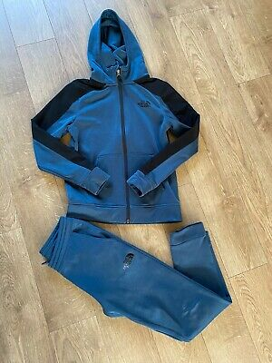 Boys Youth Junior The North Face Hoodie Full Tracksuit Top & Bottoms Size Large