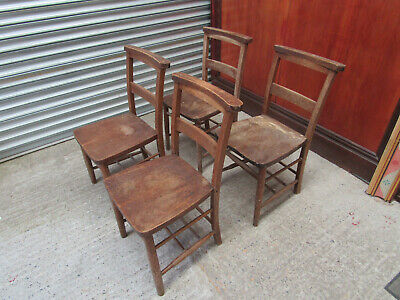 Set of 4 Chapel Chairs.