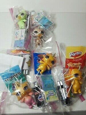 Poopsie Sparkly Critters Lot Of 5 Jointed Toys Accessories No Cans