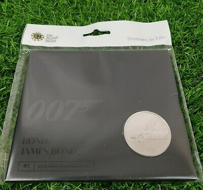 2020 James Bond 007 Aston Martin DB5 £5 Five Pound Coin Pack Sealed Uncirculated