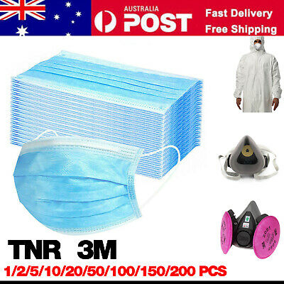 3M N95 KN95 P100 FACE MASK Anti Virus Flu 3 layer Protective Mask Filter AU