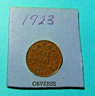 1923 Canada Small Cent Coin - Circulated