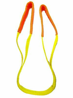 "2 Pack- 1"" x 3' - 1 Ply Endless Yellow Round Lifting Sling - Polyester Sling"