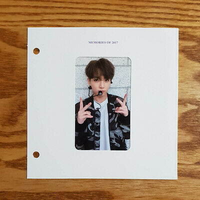 Jungkook Official Photocard with Paper Frame BTS 2017 Memories Blu-ray Genuine