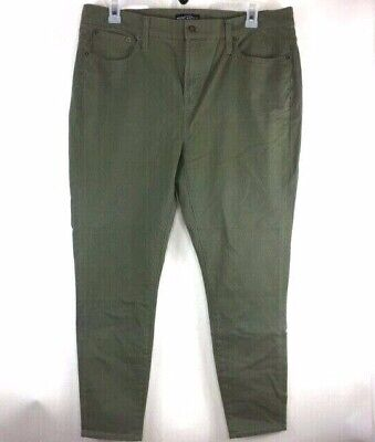 J. Crew Womens Mercantile Skinny Stretch Pants Army Green Size 34