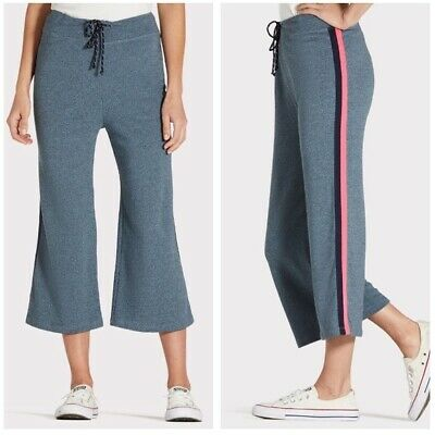 Anthropologie | Sundry Varsity Striped Cropped Sweatpants Capris Size 1 Small