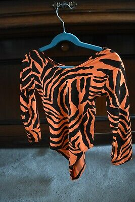 Tiger print orange and black leotard aged 7-8 years. Worn once .