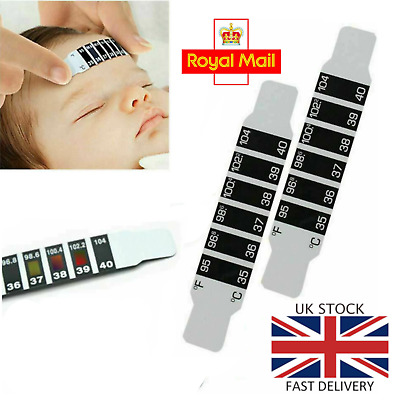 10Pcs FOREHEAD THERMOMETER FEVER SCAN STRIP ADULT BABY CHILD TEMPERATURE CHECK