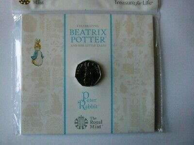 * Beatrix Potter 2019 Peter Rabbit 50p Coin. BUNC.  Royal Mint Sealed Unit.