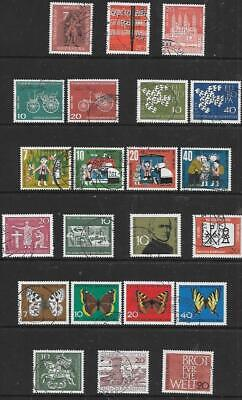 GERMANY (W) - 4 x Sets + 10 x Singles, Used - 1961/62 Issues.  Cat £20+