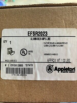 *New* Appleton Efsr2023 20A Explosion Proof Receptacle 125V