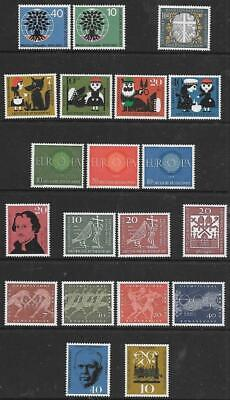GERMANY (W) - 5 x Sets + 5 x Singles, MNH - 1960  Issues.  Cat £27+