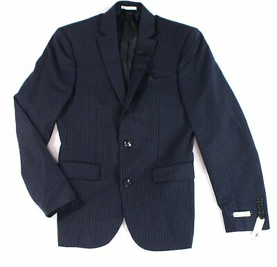 Bar III Mens Suit Jacket Blue Size 34 Two Button Slim-Fit Stretch $165 055