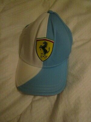 Cap Ferrari Scuderia Fernando Alonso Formula One 1 Team F1 Blue & white