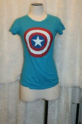 Captain America womens slim fit t-shirt Marvel size S RN 117508