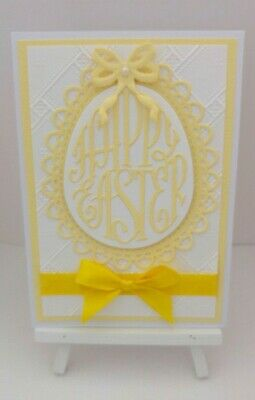 Handmade Easter Card: Happy Easter (Yellow)