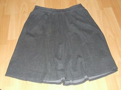 Girls Grey School Skirt From Marks And Spencers Waist 29""