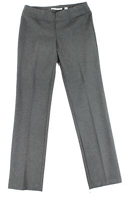 Ilusion Womens Dress Pants Gray Size 12 Pull On Straight Stretch $89- 071
