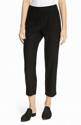 Eileen Fisher Womens Pants Black Size Small S Cropped Solid Stretch $188 085