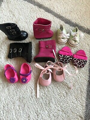 "18"" Doll Shoe Lot! 6 Pairs!! Fits Anerican Girl Doll! Look!"