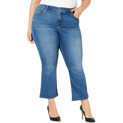 Style & Co. Womens Jeans Blue Size 18W Plus High-Rise Ankle Stretch $59 091