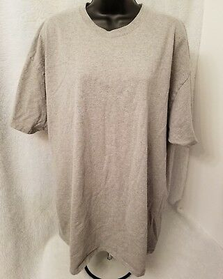 Fruit of the Loom Mens Gray T Shirt Size 2XL