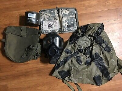 US Military Issue M-40 Gas Mask New Sealed Filter .carrying case. Hood