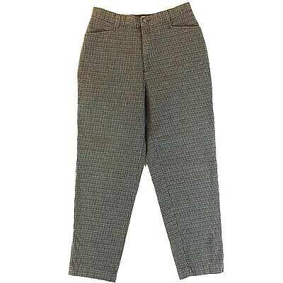 Vintage Lee Casuals Textured Womens Pants 14 Med  Dark Green And Brown That 70s