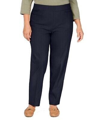 Alfred Dunner Womens Pants Blue Size 24W Plus Modern Slimming Stretch $52 274