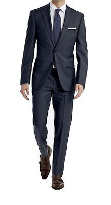 Calvin Klein Mens Suit Blue Size 44 2 Piece Wool Extreme Slim-Fit $600- 208