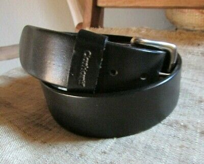 VINTAGE CARHARTT 32 BLACK TOP GRAIN ENGLISH BRIDLE LEATHER BELT, Made in England