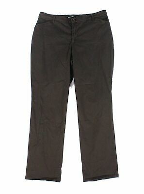 Lee Womens Pants Brown Size 8 Short Straight-Leg Relaxed-Fit Stretch $48 200