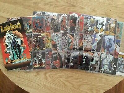 LADY DEATH CHROMIUM SERIES 11 TRADING CARDS COMPLETE By KROME Issued YEAR 1995